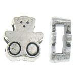 Beads Alloy zink Kafshëve, Bear, Ngjyra antike argjendi praruar, asnjë, asnjë, , nikel çojë \x26amp; kadmium falas, 10.50x9.50x5mm, : 7x2.5mm, 500PC/KG,  KG