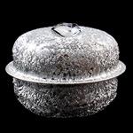Hekuri Pendants Bell, Zile, ngjyrë platin praruar, Stardust, asnjë, , nikel çojë \x26amp; kadmium falas, 32x25mm, : 6x4mm, 100PC/Qese,  Qese
