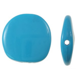 Beads Solid Color akrilik, Nuggets, asnjë, ngjyra të forta, blu, 23x23x6mm, : 2mm, 225PC/Qese,  Qese