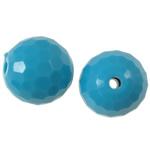 Beads Solid Color akrilik, Round, asnjë, ngjyra të forta, blu, 14mm, : 2mm, 290PC/Qese,  Qese
