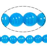 Plattierte Lampwork Perlen, rund, pfauenblau, 16mm, Bohrung:ca. 1-2.5mm, Länge:ca. 12.8 ZollInch, 10SträngeStrang/Tasche, verkauft von Tasche