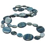 Necklaces Shell, Predhë, Oval Flat, i lyer, asnjë, blu të errët, 18-30mm, :31Inç,  31Inç,