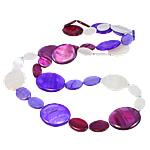Necklaces Shell, Predhë, Oval Flat, i lyer, asnjë, ngjyra të përziera, 18-30mm, : 31Inç,  31Inç,
