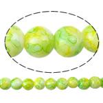 Glass Beads Moda, Xham, Round, i lyer, asnjë, 8mm, : 2mm, : 31.5Inç, 10Fillesat/Qese,  Qese