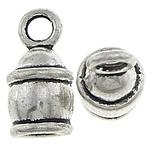 Zink Alloy Cap Fundi, Alloy zink, Shape Tjera, Ngjyra antike argjendi praruar, asnjë, asnjë, , nikel çojë \x26amp; kadmium falas, 8x15x8mm, : 2mm, : 4mm, 666PC/KG,  KG