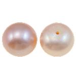 Gjysma shpuar Beads kulturuar Pearl ujërave të ëmbla, Pearl kulturuar ujërave të ëmbla, Kube, natyror, rozë, 10mm, 27Çiftet/Shumë,  Shumë