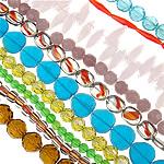 Beads Crystal, Kristal, Shape përziera, asnjë, asnjë, ngjyra të përziera, 5-25mm, : 1-2mm, : 10.5-15Inç, 600Fillesat/Shumë,  Shumë