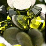Cabochons Crystal, Kristal, Kube, i praruar, asnjë, jeshile ulliri, Një, 2.7-2.9mm, 10Grosses/Qese,  Qese
