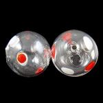 Mundgeblasene Lampwork Perlen, rund, handgemacht, hohl, 12mm, Bohrung:ca. 1-2mm, 50PCs/Tasche, verkauft von Tasche