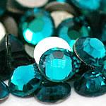 Cabochons Crystal, Kristal, Kube, i praruar, asnjë, Indicolite, Një, 6.4-6.6mm, 2Grosses/Qese,  Qese
