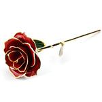 Lule artificiale Kryesore Dekor, Rrëshirë, Shape Tjera, ari praruar vërtetë, asnjë, i kuq, 300x65mm,  PC