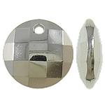 Veshura bakri plastike Varëse, plastike bakrit të veshura, Round Flat, ngjyrë platin praruar, asnjë, asnjë, , nikel çojë \x26amp; kadmium falas, 14.5x5mm, : 2mm, 1428PC/KG,  KG