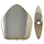 Veshura bakri Beads plastike, plastike bakrit të veshura, Pentagoni, ngjyrë platin praruar, asnjë, asnjë, , nikel çojë \x26amp; kadmium falas, 30.50x35x7mm, : 2mm, 175PC/KG,  KG