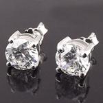 Bizhuteri Vath, 925 Sterling Silver, Lule, asnjë, me diamant i rremë, asnjë, 6mm,  Palë