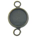 Connector tunxh Setting, Shape Tjera, Ngjyra antike bronz i praruar, 1/1 loop, asnjë, , nikel çojë \x26amp; kadmium falas, 12x20.50x2mm, : 3mm, : 10x10mm, 500PC/Qese,  Qese