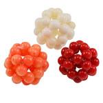 Beads Natyrore Coral, Coral Natyrore, Round, punuar me dorë, ngjyra të përziera, 18-22mm, 10PC/Qese,  Qese