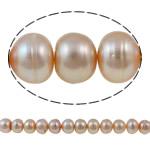 Button Beads ujërave të ëmbla kulturuar Pearl, Pearl kulturuar ujërave të ëmbla, Buton, natyror, rozë, 12-16mm, : 1mm, :15.3Inç,  15.3Inç,
