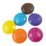 Beads Solid Color akrilik, Round Flat, asnjë, ngjyra të forta, ngjyra të përziera, 18x9mm, : 2mm, 5KG/Shumë,  Shumë