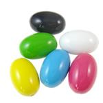 Beads pikturuar akrilik, Oval, pikturë, asnjë, ngjyra të përziera, 17x24.5mm, : 2.5mm, 5KG/Shumë,  Shumë