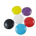 Beads pikturuar akrilik, Round Flat, pikturë, asnjë, ngjyra të përziera, 20x8.5mm, : 2mm, 5KG/Shumë,  Shumë