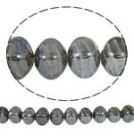 Beads praruar Lampwork, Katror, i praruar, asnjë, bojë kafe, 13x14mm, : 2mm, : 16.5Inç, 10Fillesat/Qese,  Qese
