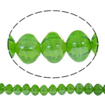 Plattierte Lampwork Perlen, Quadrat, hellgrün, 13x14mm, Bohrung:ca. 2mm, Länge:ca. 16.5 ZollInch, 10SträngeStrang/Tasche, verkauft von Tasche