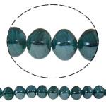 Beads praruar Lampwork, Katror, i praruar, asnjë, jeshile të thellë, 13x14mm, : 2mm, :16.5Inç, 10Fillesat/Qese,  Qese