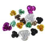 Beads bizhuteri alumini, Lule, pikturë, asnjë, ngjyra të përziera, 5-11mm, : 2mm, 30PC/Qese,  Qese