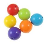 Beads Solid Color akrilik, Round, asnjë, ngjyra të forta, ngjyra të përziera, 14mm, : 2.5mm, 5KG/Shumë,  Shumë