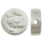Veshura bakri Beads plastike, plastike bakrit të veshura, Monedhë, ngjyrë platin praruar, asnjë, asnjë, , nikel çojë \x26amp; kadmium falas, 11.20x11.20x4.50mm, : 1.8mm, 2000PC/KG,  KG