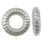 Plastike bakri veshura Linking Ring, plastike bakrit të veshura, Petull e ëmbël në formë gjevreku, ngjyrë platin praruar, asnjë, asnjë, , nikel çojë \x26amp; kadmium falas, 14.20x3.50mm, : 6.8mm, 3333PC/KG,  KG