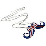 Zinklegierung Schmuck Halskette, mit Emaille & Eisen, Zinklegierung Karabinerverschluss, Platinfarbe platiniert, frei von Nickel, Blei & Kadmium, 33x81x2mm, verkauft per ca. 24 ZollInch Strang
