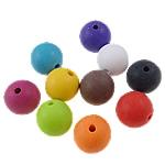 Akrilik Beads i mbuluar me brymë, Round, asnjë, ngjyra të përziera, 16mm, : 3mm, 5KG/Shumë,  Shumë