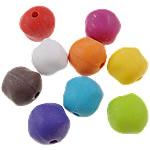 Akrilik Beads i mbuluar me brymë, Round, asnjë, ngjyra të përziera, 14x13.50x13mm, : 3mm, 5KG/Shumë,  Shumë