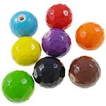 Beads pikturuar akrilik, Round, pikturë, asnjë, ngjyra të përziera, 14mm, : 2mm, 5KG/Shumë,  Shumë