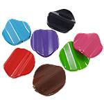 Beads pikturuar akrilik, Shape Tjera, pikturë, asnjë, ngjyra të përziera, 24x26x6mm, : 2mm, 5KG/Shumë,  Shumë