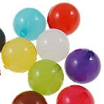 Akrilik Jelly Style Beads, Round, asnjë, Stili pelte, ngjyra të përziera, 6mm, : 2mm, 5KG/Shumë,  Shumë