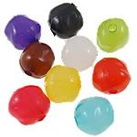 Akrilik Jelly Style Beads, Nuggets, asnjë, Stili pelte, ngjyra të përziera, 14x14x12mm, : 3mm, 5KG/Shumë,  Shumë