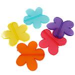Akrilik Jelly Style Beads, Lule, asnjë, Stili pelte, ngjyra të përziera, 47x44x6mm, : 3mm, 5KG/Shumë,  Shumë