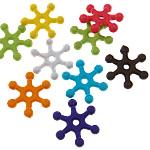 Beads Solid Color akrilik, Flok dëbore, asnjë, ngjyra të forta, ngjyra të përziera, 8.50x7.50x2mm, : 1.5mm, 5KG/Shumë,  Shumë