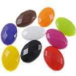 Beads Solid Color akrilik, Oval, asnjë, ngjyra të forta, ngjyra të përziera, 13x19x6mm, : 1.5mm, 5KG/Shumë,  Shumë