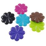 Beads Solid Color akrilik, Lule, asnjë, ngjyra të forta, ngjyra të përziera, 34x33.50x5mm, : 1mm, 5KG/Shumë,  Shumë