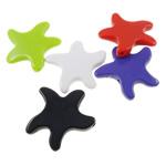 Beads Solid Color akrilik, Yll deti, asnjë, ngjyra të forta, ngjyra të përziera, 44x42x8mm, : 3mm, 5KG/Shumë,  Shumë
