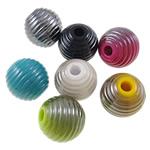 Beads plumb Zi akrilik, Daulle, plumbit ngjyrë të zezë praruar, ngjyra të forta, ngjyra të përziera, 18.5x18mm, : 4.5mm, 5KG/Shumë,  Shumë