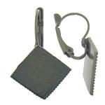 Llozi tunxh Back Vath Komponenti, Romb, Ngjyra antike bronz i praruar, asnjë, , nikel çojë \x26amp; kadmium falas, 20x31x12mm,1mm, : 19.5x19.5mm, 100Çiftet/Qese,  Qese