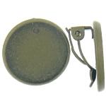 Clip tunxh Në Vath Finding, Round Flat, Ngjyra antike bronz i praruar, asnjë, , nikel çojë \x26amp; kadmium falas, 19.5x19.5x10.5mm,2mm, : 18x18mm, 100Çiftet/Qese,  Qese