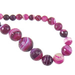 Dashuri Rose Beads agat, Rose agat, Round, asnjë, faceted & shirit, 6-14, : 1mm, :18Inç, 5Fillesat/Shumë,  Shumë