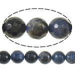 Natyrore Dy-ton Beads agat, Dy agat Ton, Round, asnjë, faceted, 8mm, : 1.5mm, :16Inç, 10Fillesat/Shumë,  Shumë