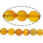 Beads Kuq Natyrore agat, Red agat, Round, asnjë, faceted, 12mm, : 1mm, :15Inç, 5Fillesat/Shumë,  Shumë