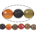 Agat Beads, Agat përziera, Round, asnjë, i përzier, 8mm, : 1mm, :16Inç, 10Fillesat/Shumë,  Shumë
